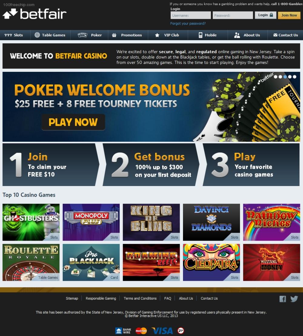 betfair casino free 10