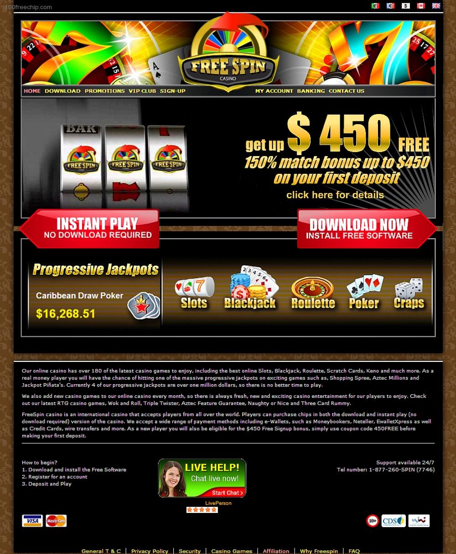 Free Spin Casino 100 Free Chip