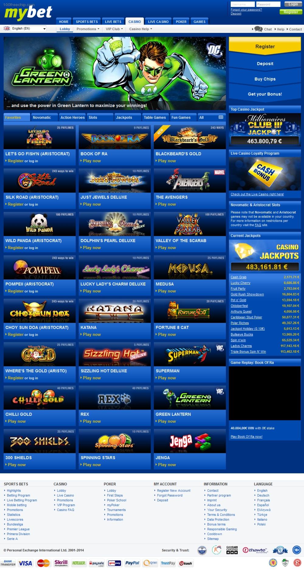 Mybet Casino Codes