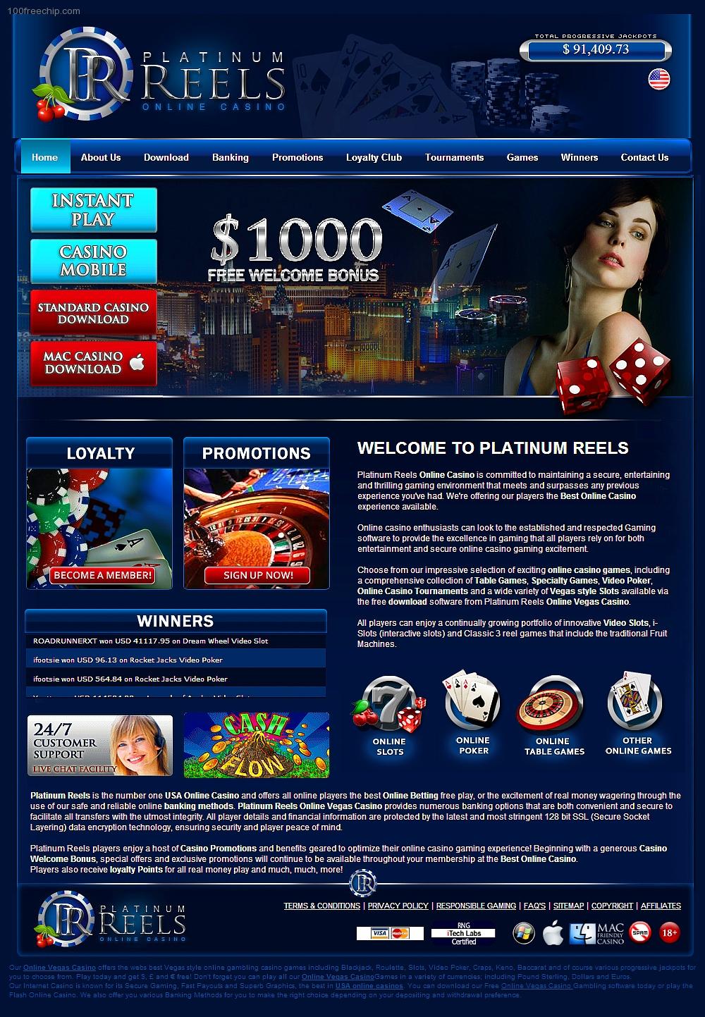 Bonus code platinum play casino
