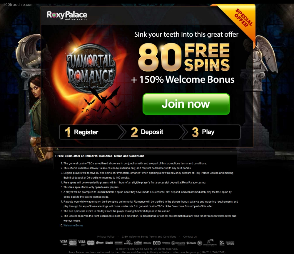 Roxy Palace Bonus Code