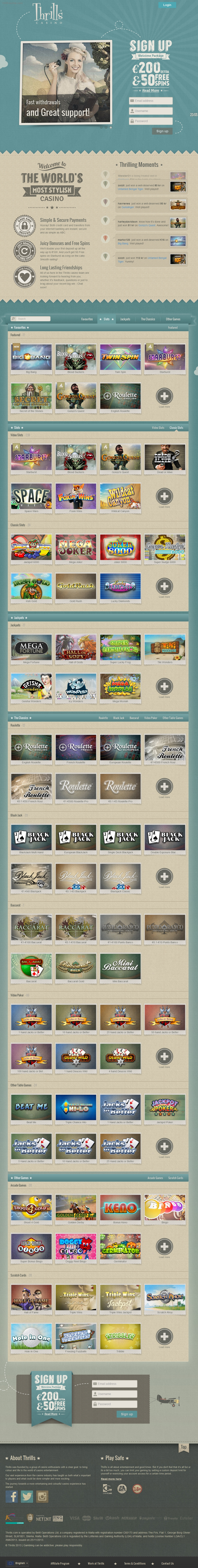 Thrills casino coupons